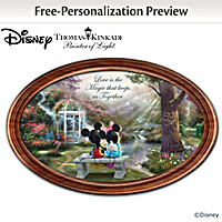 Disney The Magic Of Love Personalized Collector Plate