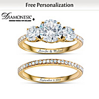 Today, Tomorrow, Always Personalized Bridal Ring Set