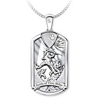 Battle Of Vimy Ridge Pendant Necklace