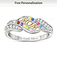 Mom\'s Blessings Personalized Ring