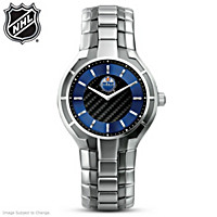 Edmonton Oilers® Carbon Fiber Men\'s Watch