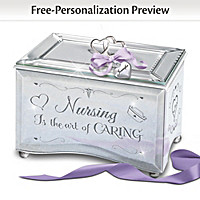 Nursing Is The Art Of Caring Personalized Music Box
