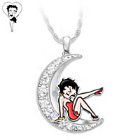 Over The Moon With Betty Boop Pendant Necklace