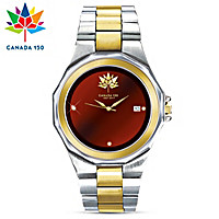 Canada\'s 150th Anniversary Diamond Men\'s Watch