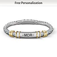Strength For My Grandson Personalized Men\'s Bracelet