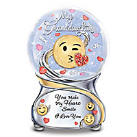 Granddaughter, You Make My Heart Smile Glitter Globe