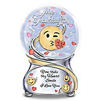 Granddaughter, You Make My Heart Smile Glitter Globe