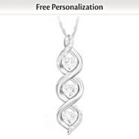 Always My Daughter Personalized Diamond Pendant Necklace