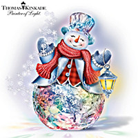 Thomas Kinkade Reflections Of Christmas Sculpture