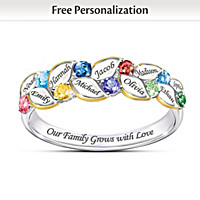 Our Family Of Joy Women's Personalized Birthstone Ring