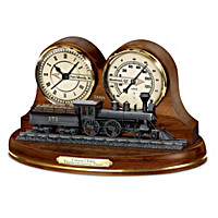 Canada\'s First Transcontinental Train Thermometer Clock