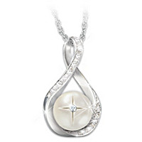 God's Pearl Of Wisdom Diamond Pendant Necklace