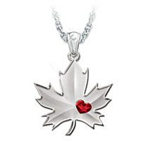 Proudly Canadian Pendant Necklace