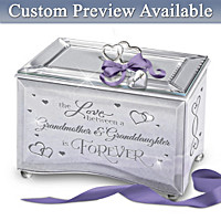 Grandmother And Granddaughter Personalized Music Box