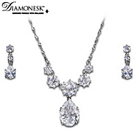 Coronation Celebration Pendant Necklace And Earrings Set