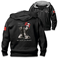 Strong And Free Men\'s Hoodie