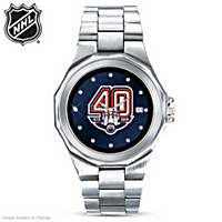 Edmonton Oilers® Men\'s Diamond Watch