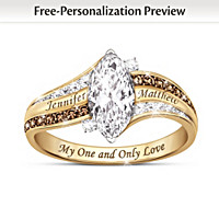 My One And Only Love Personalized 18K Gold-Plated Ring