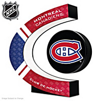 Montreal Canadiens® Levitating Puck Sculpture