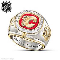 Calgary Flames® Diamond Ring