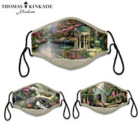 Thomas Kinkade Gardens Of Paradise Face Mask Set