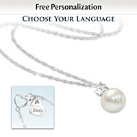 Precious Granddaughter Personalized Pendant Necklace