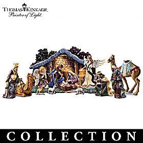 Thomas Kinkade Star Of Hope Nativity Collection