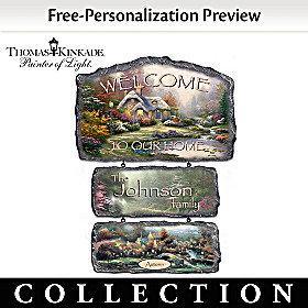 Thomas Kinkade Warm Welcome Sign Collection