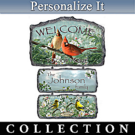 Songbirds Of The Season Welcome Sign Collection
