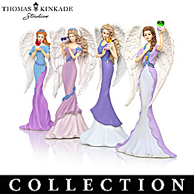 Thomas Kinkade Angels Of Caring Figurine Collection