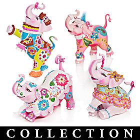 Margaret Le Van Pink Elephant Figurines
