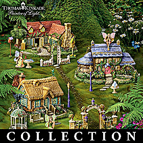 Thomas Kinkade Fairy Garden Village Collection