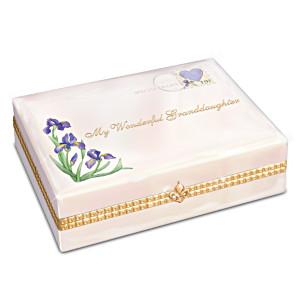 """My Wonderful Granddaughter"" Porcelain Music Box"