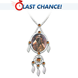 """Sacred Love"" Sterling Silver Dreamcatcher Pendant Necklace"