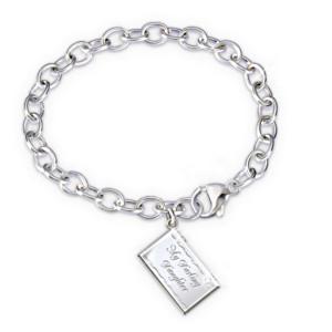 """""""Letter Of Love"""" Diamond Engraved Bracelet For Daughter"""