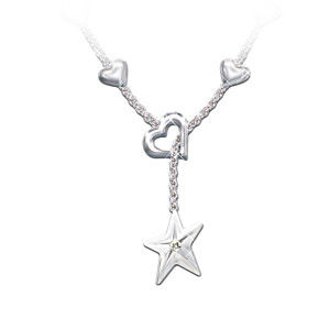 """My Granddaughter, My Shining Star"" Engraved Diamond Pendant"