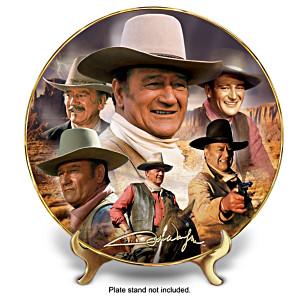 "John Wayne ""Thunder Across The Plains"" Collector Plate"