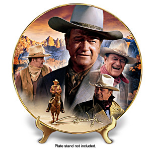 """John Wayne """"Master Of The West"""" Collector Plate"""