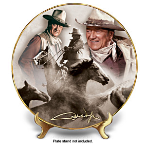 "John Wayne ""Round Em' Up!"" Collector Plate"