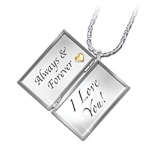 "Diamond ""Love Letter"" Locket With Loving Message"