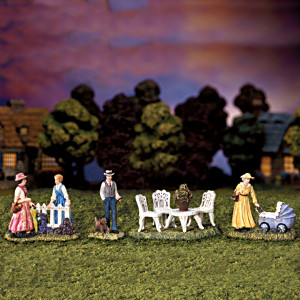 Thomas Kinkade Summertime Figurines Village Accessory