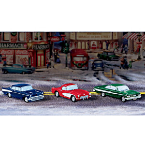 """Chevy Cruisin' Classic Cars"" Village Accessory Set"