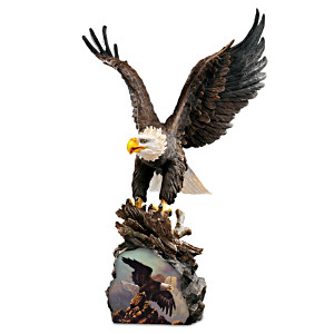 """Ted Baylock """"Mountain King"""" Eagle Sculpture"""
