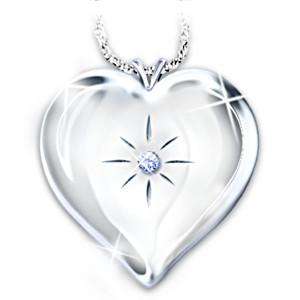 """Always And Forever"" Engraved Diamond Locket Pendant"