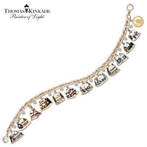 The Ultimate Thomas Kinkade Christmas Village Charm Bracelet
