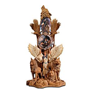 Replica Totem Pole Figurine With Lee Bogle Art