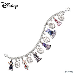 "Disney ""Wickedly Beautiful"" Swarovski Crystal Charm Bracelet"
