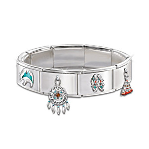 The Native American-Style Italian Charm Bracelet