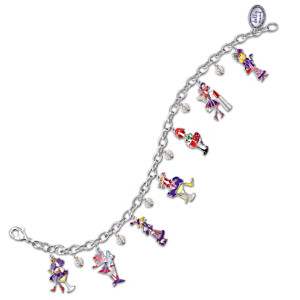 The Dolly Mama's Charm Bracelet With Swarovski Crystals