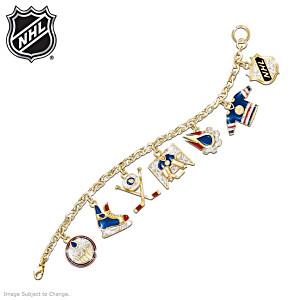 Edmonton Oilers® Swarovski Crystal Charm Bracelet
